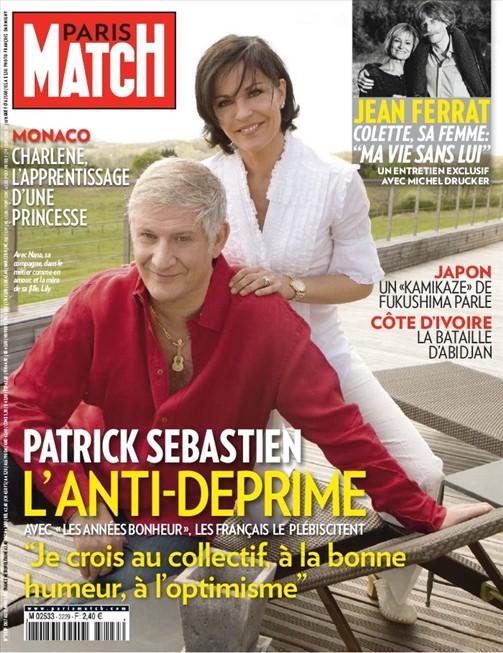 patrick en couverture de paris match patrick sebastien. Black Bedroom Furniture Sets. Home Design Ideas